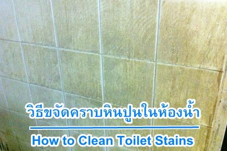 วิธีขจัดคราบหินปูนในห้องน้ำ