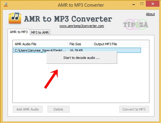 AMR to MP3 5
