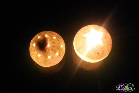 Orange Candle 12