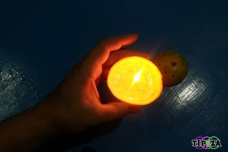 Orange Candle 8